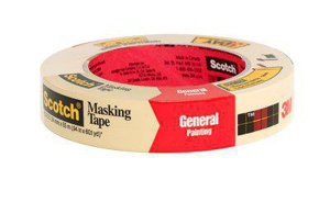 3M Painters' Masking Tape Natural 60 yd 1 in
