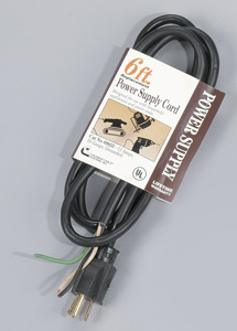 Southwire Power Supply Cords 16 AWG 6 ft Black