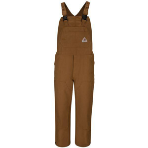 Bulwark Flame Resistant Brown Duck Unlined Bib Overalls 38 x 32 Brown Flame Resistant 16 cal/cm2