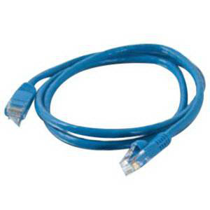 Quiktron 570 Series Cat 5e Cable Assemblies 3 ft Blue