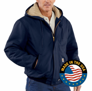 Carhartt TEP Logo'd Flame Resistant Duck Quilt Lined Active Jackets Navy XL 54.3 cal/cm2