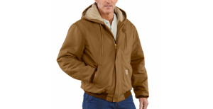 Carhartt TEP Logo'd Flame Resistant Duck Quilt Lined Active Jackets Brown XL 54.3 cal/cm2