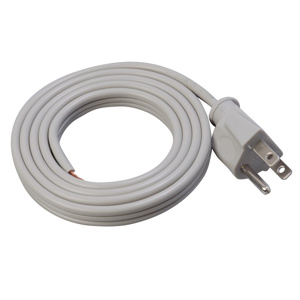 Southwire SPT-3 Power Supply Cords 16 AWG 6 ft Straight Gray
