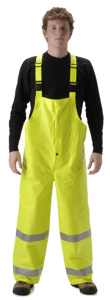 Nasco ArcLite™ 1000/1500 Series AR FR Rain Bib Trousers Large Yellow Flame Resistant, Waterproof 7 cal/cm2