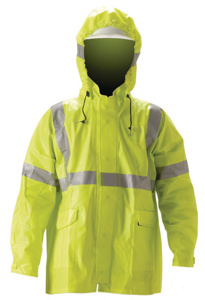 Nasco ArcLite™ Series FR Rain Jackets XL Yellow Flame Resistant, Waterproof 7 cal/cm2