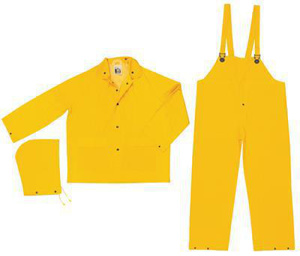 MCR Safety Classic Series 3 Piece Rain Suits 3XL Yellow Waterproof