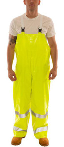 Tingley Comfort-Brite® Series FR Hi-Vis Bib Overalls XL Hi-Viz Lime Yellow Waterproof