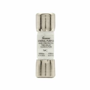 Eaton Cooper Bussman SC Series Current Limiting Fuses 15 A 600 VAC/170 VDC Time Delay