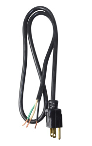 Southwire Replacement SJTW Power Supply Cords 16 AWG 3 ft Black