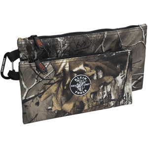 Klein Tools 555 Zipper Bags Ballistic Weave Camouflage/Orange